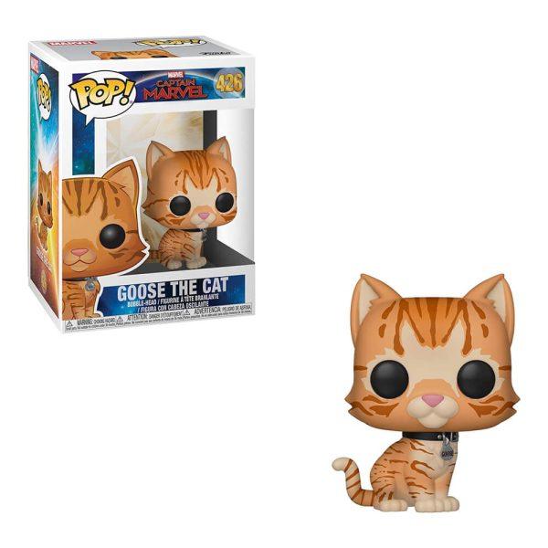 Captain Marvel Goose The Cat Pop Figure Box and Figure