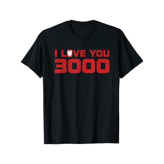Iron Man I Love You 3000 T-shirt Black