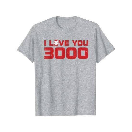 Iron Man I Love You 3000 T-shirt Grey