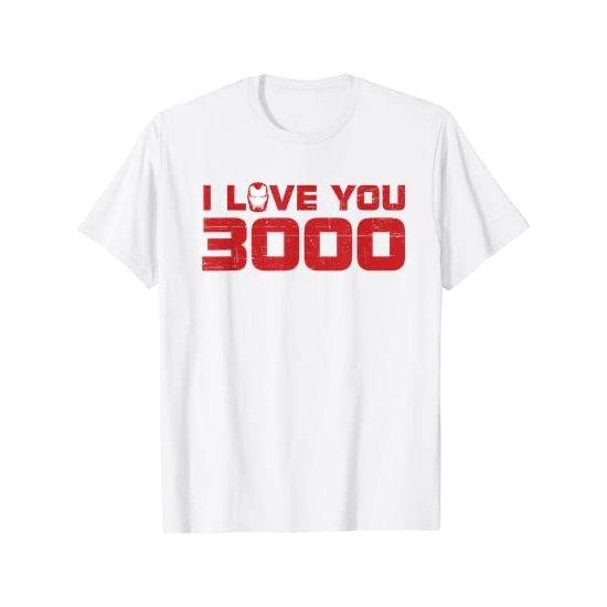 Iron Man I Love You 3000 T-shirt White