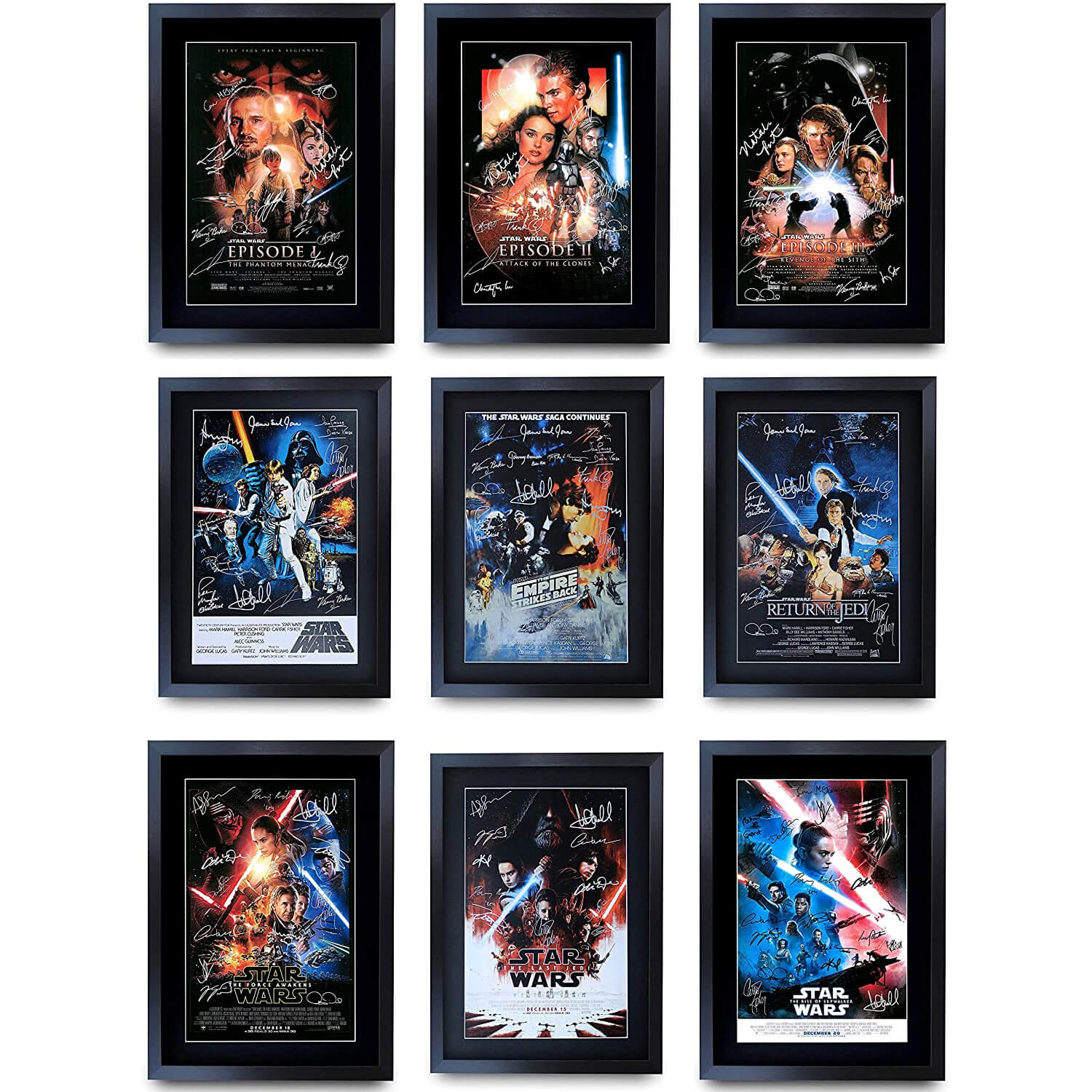 Father's Day Gift Signed Saga Movie Poster Collection